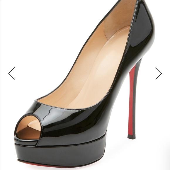 e69c41a64920 Christian Louboutin Shoes - Christian Louboutin Fetish Peep Toe Red Pumps